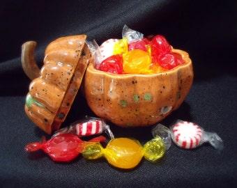 Ceramic Pumpkin Candy Dish