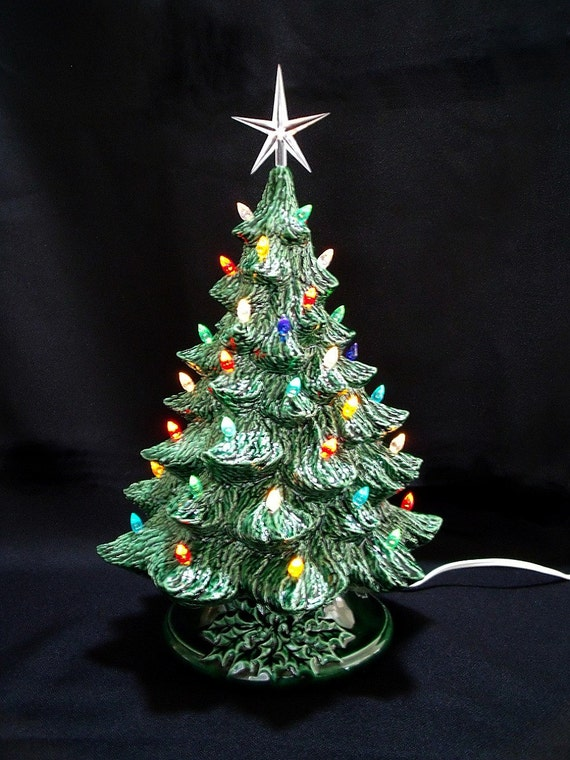 Vintage Style Ceramic Christmas Tree 16 Inches By