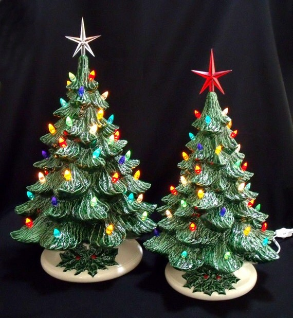 Old Fashioned Ceramic Christmas Tree 16 And 19 By