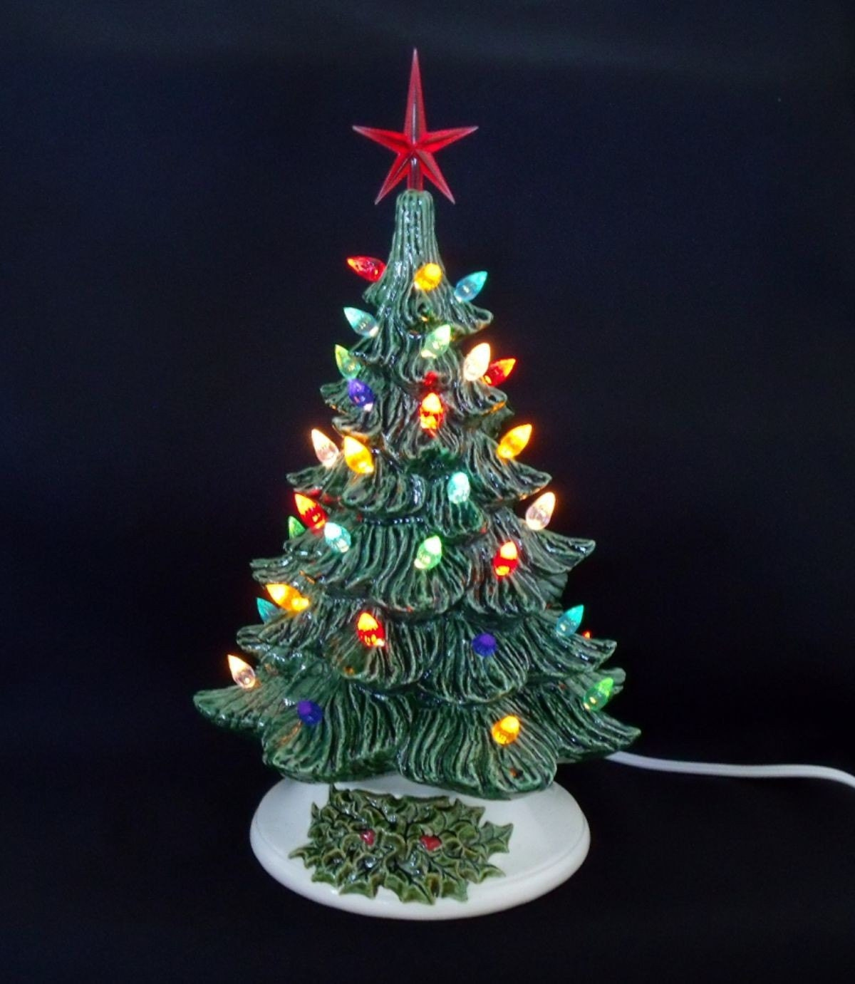 Ceramic Old Fashioned Christmas Tree