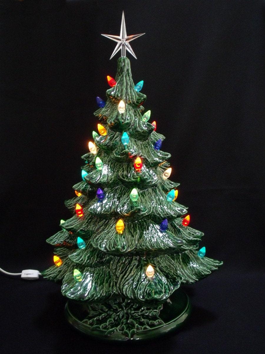 Vintage style ceramic christmas tree inch by darkhorsestore