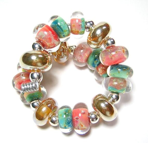 Quinlan Glass Island Whispers Boro Handmade Lampwork Glass Beads