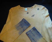 BEES Airbrushed and TyeDyed Longsleeve Cotton Tee