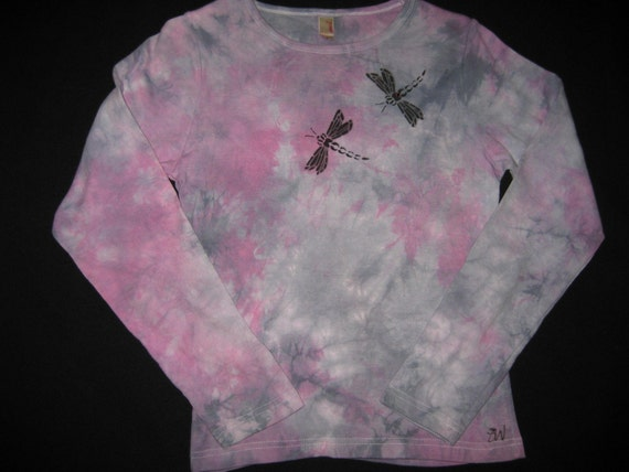 DRAGONFLY Airbrushed & Tye Dyed Longsleeve Cotton T