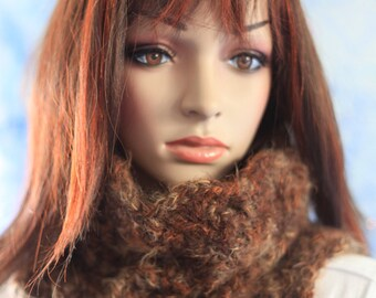 Cowl Scarf - Shades of Brown - Super Soft