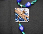 Dragonfly in the sky Necklace - 23 inches long