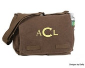 Classic Canvas Messenger Bag - Personalized
