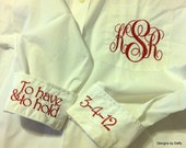 Monogrammed Bridal Party Oversized Shirts - Super Cute Bridesmaid Gift - Set of 5