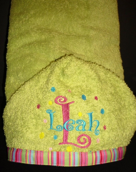 kids personalized hooded bath towel by designsbydaffy on etsy