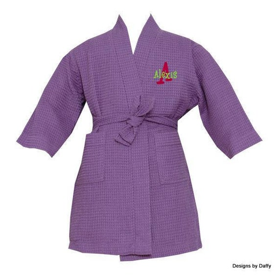 Children's Personalized Cotton Waffle Weave Spa Robe