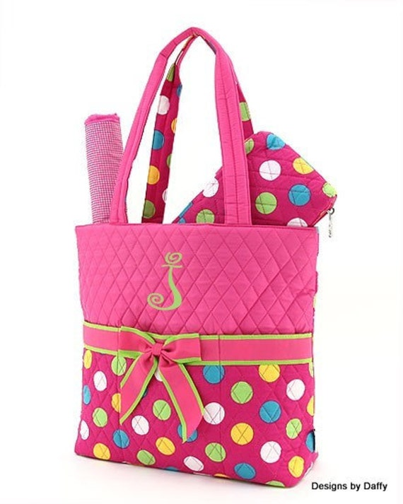 Quilted Personalized Diaper Bag