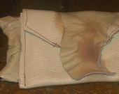Hot Cream Recycled Leather Wristlet