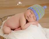 Newborn Baby Striped Beanie Hat For Boy or Girl Choose your colors Photo Prop