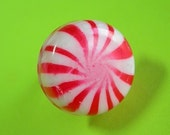 Resin Candy Ring  - Minty Red