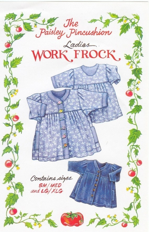 Work Frock Ladies sizes by the Paisley Pincushion