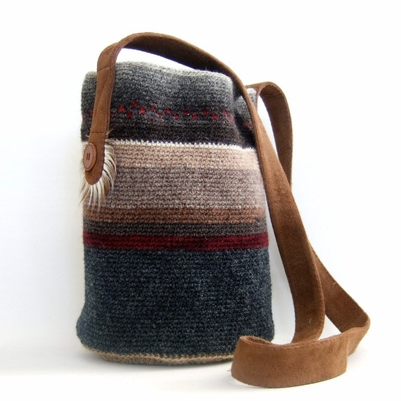One-of-a-kind Crocheted Ethnic Bag - MADE IN FINLAND