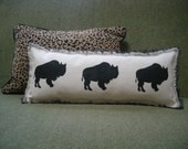 Canvas Buffalo Accent Pillow / FREE SHIPPING/ Now Available
