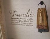 Tranquility Definition Bathroom Vinyl Wall Lettering Words Quotes Decals Art Custom Willow Creek Signs