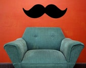 30x10 Mustache Funny Vinyl Decor Wall Lettering Words Quotes Decals Art Custom Willow Creek Signs