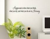 Happiness Harmony Vinyl Wall Lettering Art Decals Custom Personalized Family Willow Creek