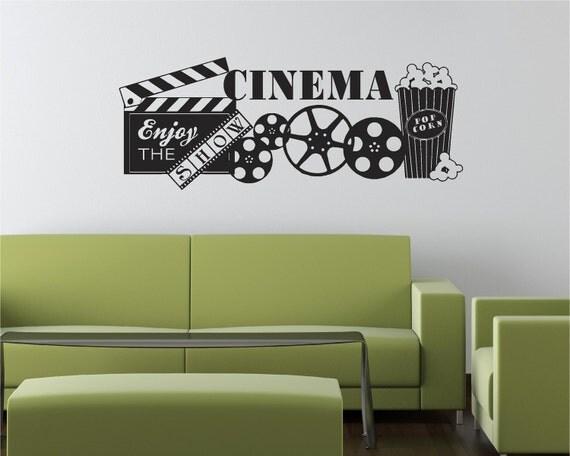 57x22 Cinema Movie Popcorn Theater Show Vinyl By