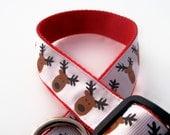 Rudolph Ribbon Dog Collar