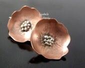 Tutorial Soldered Copper Blossom Earrings