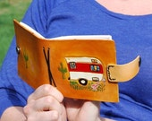 Road trip (stop number 1) leather bound mini journal