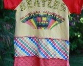 The Beatles Magical Mystery Tour Upcycled 4T dress - READY TO SHIP