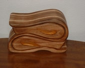 Pisces 2 Drawer Jewelry Box Willow and Maple with Canarywood