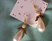 AMY FAE- February Birthstone Angel earrings ZERO S and H