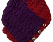 Royal Shell Stitch Right Angle Button-Up Scarf - Crochet Pattern