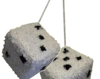 Knitted Fuzzy Dice - Knitting Pattern (PDF)