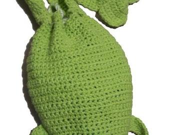 Frog Drawstring Bag - Crochet Pattern