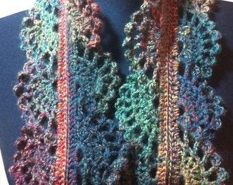 Filigree Lace Sock Yarn Skinny Scarf - Crochet Pattern (PDF)