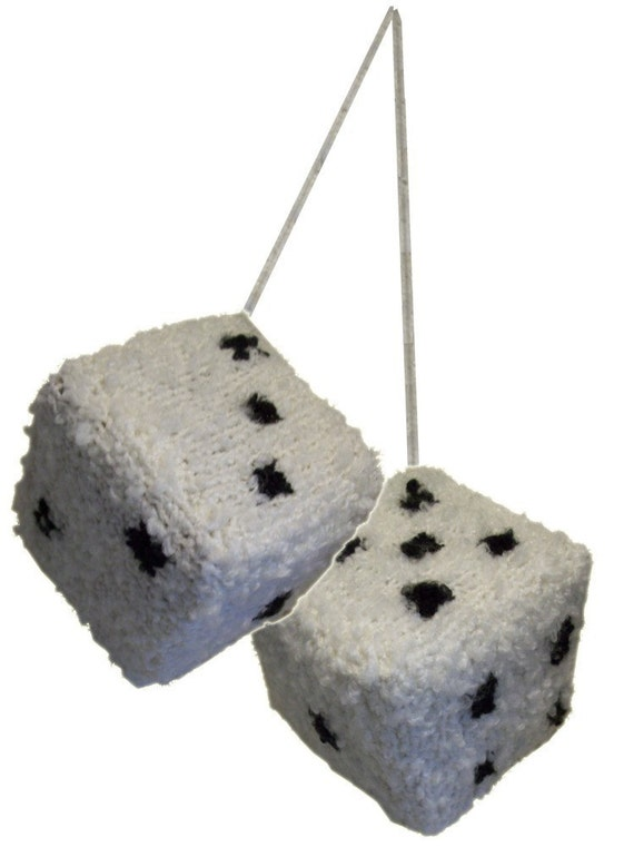 Knitted Fuzzy Dice - Knitting Pattern (PDF)