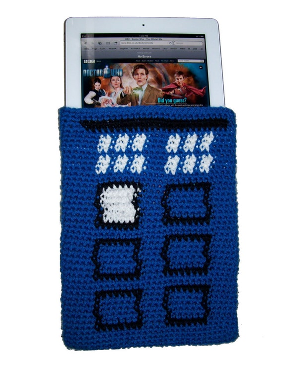 TARDIS iPad Sleeve Tapestry Crochet Pattern
