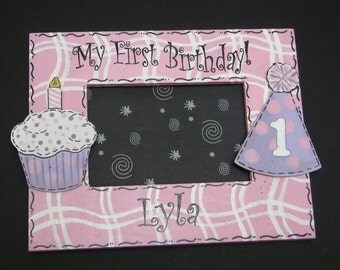 Birthday Picture Frame 4x6 Personalized 1st Birthday