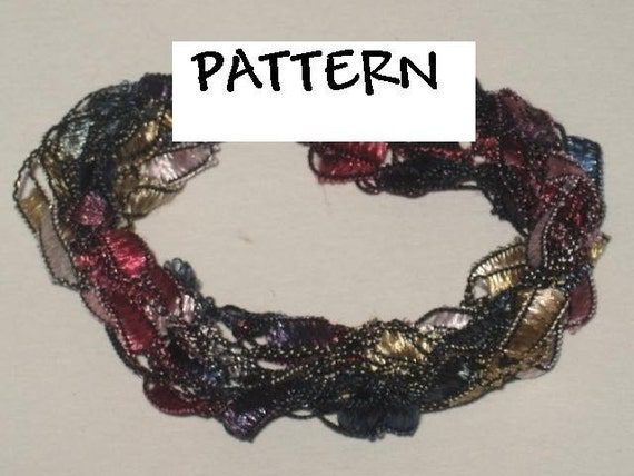 Trellis Yarn Bracelet Crochet Pattern By Seashellcrafter