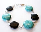 SALE Bohemian Turquoise Bracelet - Sterling Silver WAS 23 NOW 19