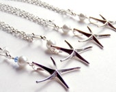 RESERVED Starfish Necklace x 7 - Teal Bead