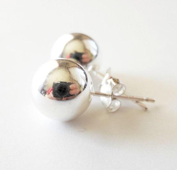 Tiffany Inspired 10mm Sterling Silver Bead Earrings