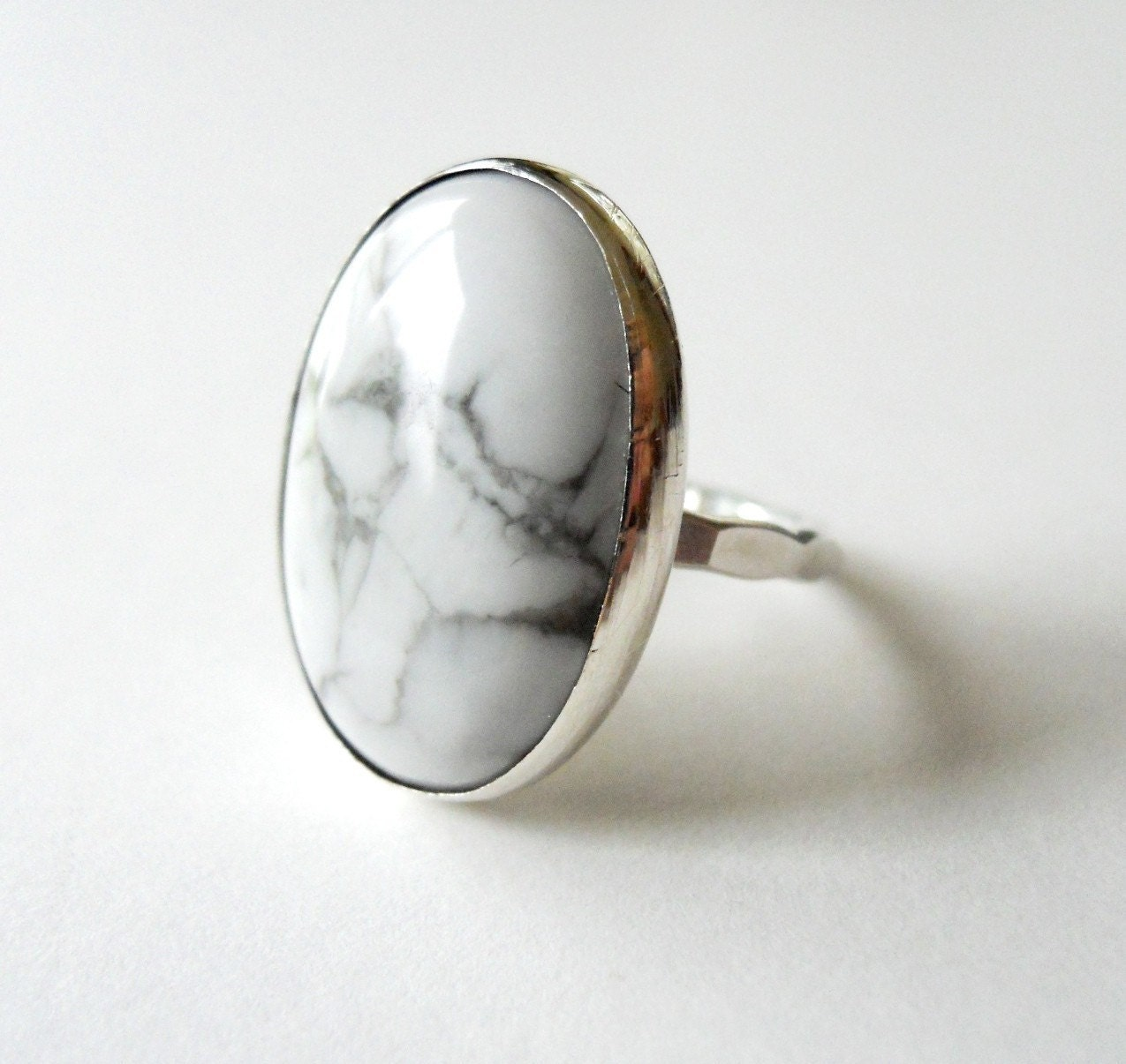 white turquoise ring sterling silver