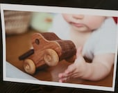 Wooden Truck single card on recycled paper