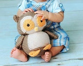 Owl: Plush Crochet PATTERN -pdf-