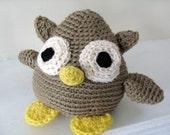 Crochet PATTERN: Owl -pdf-