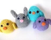 Crochet PATTERN: Easter Chick -pdf-