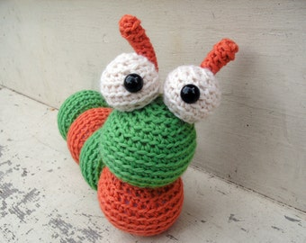Amigurumi PATTERN: Crochet Caterpillar -pdf-