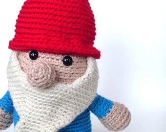 Amigurumi PATTERN: Crochet Garden Gnome -pdf-