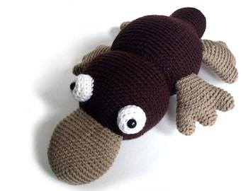 Crochet PATTERN: Plush Platypus -pdf-
